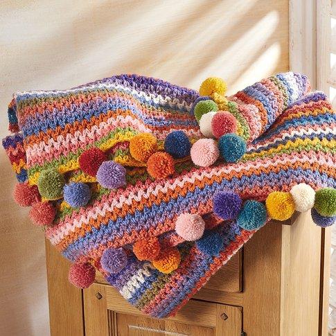 Wool Pom&Shy;Pom Throw
