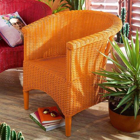Orange Casa Wicker Armchair