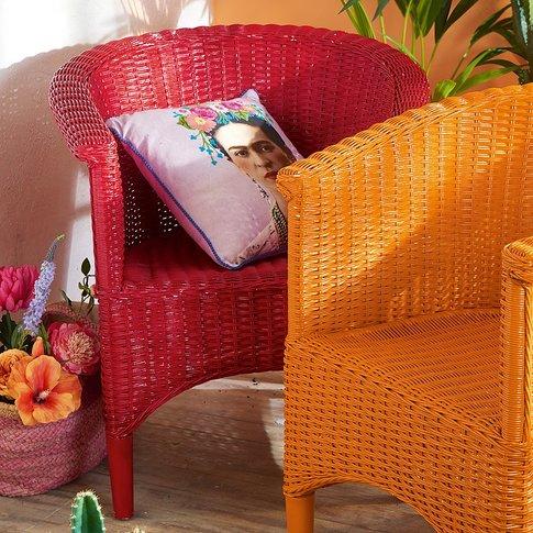 Red Casa Wicker Armchair