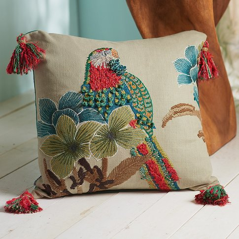 Tropical Applique Cushion