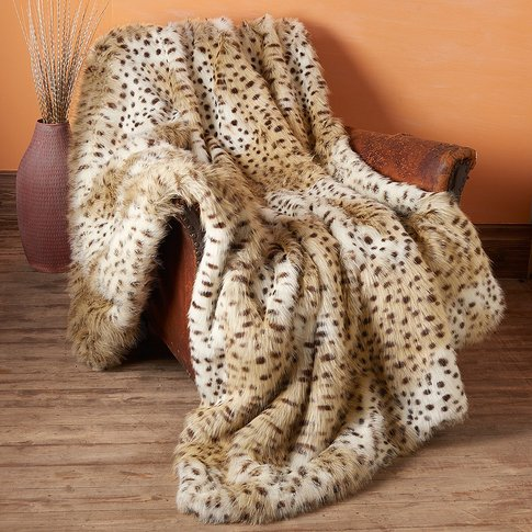 Maasai Mara Faux Cheetah Throw