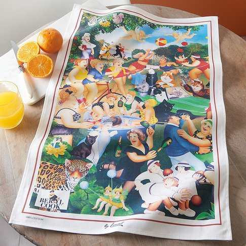 Beryl Cook Montage Tea Towel