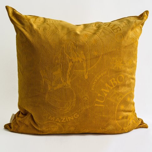 Amazing Jumbo Lux Corduroy Cushion (colour: Mustard)