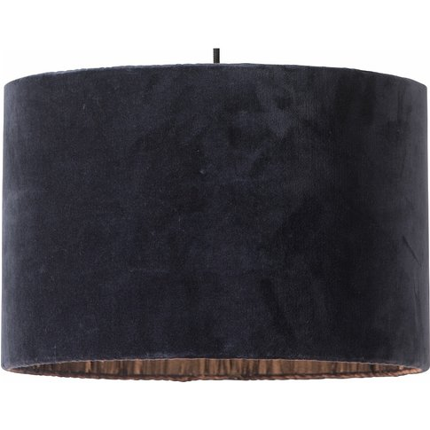 Papillon Pleated Silk and Velvet Lampshade - Dark Gr...