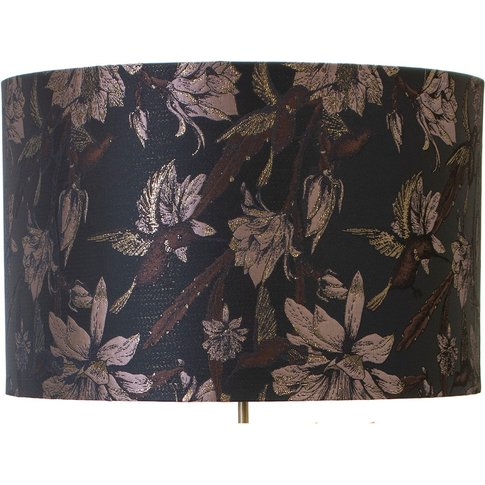 Tropical Night Hummingbird Lampshade (size: Large)