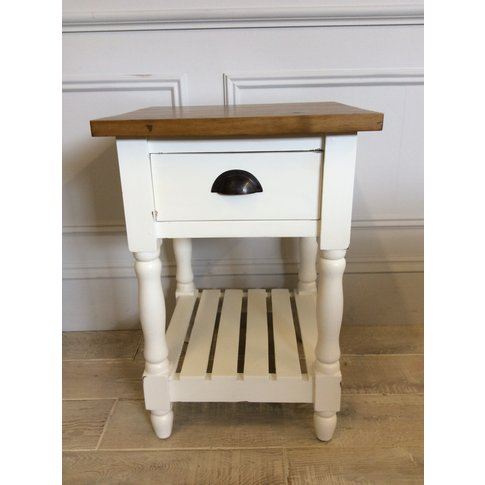Country Style Drawer Side Table (2 Available)
