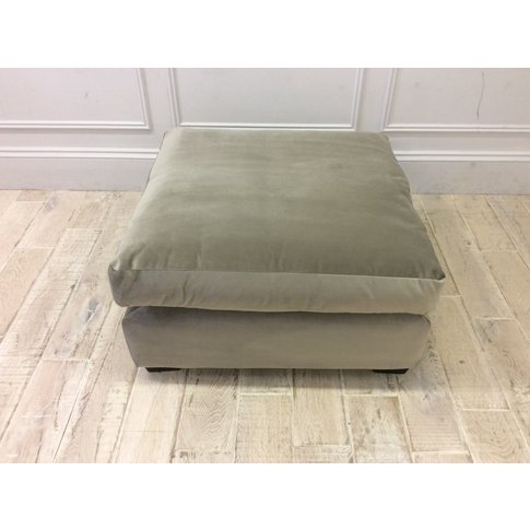 Norton Footstool In Velvet