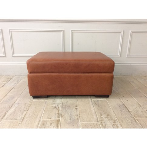 Sloane Storage Ottoman In Crystal Tan