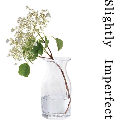 Finbarr Hexagonal Vase Clear 21cm - Slightly Imperfect