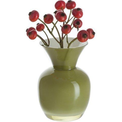 Little Treasures - Olive & White Vase