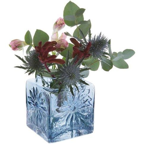 Marguerite Square Vase Ink Blue