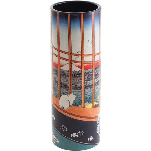 Hiroshige - Cat Sees Mount Fuji Small Vase