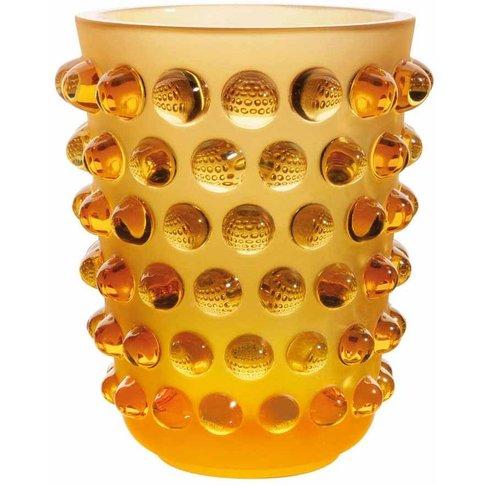 Lalique Mossi Amber Vase
