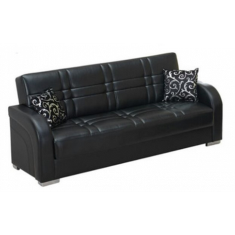 Andy Black Pu Sofa Bed With Storage