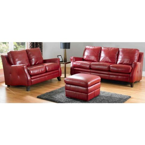 Saverno 3+2 Seater Leather Sofa Suite