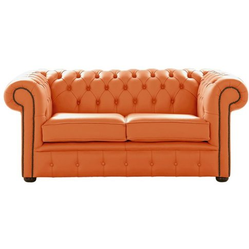 Chesterfield 2 Seater Shelly Firestone Leather Sofa ...