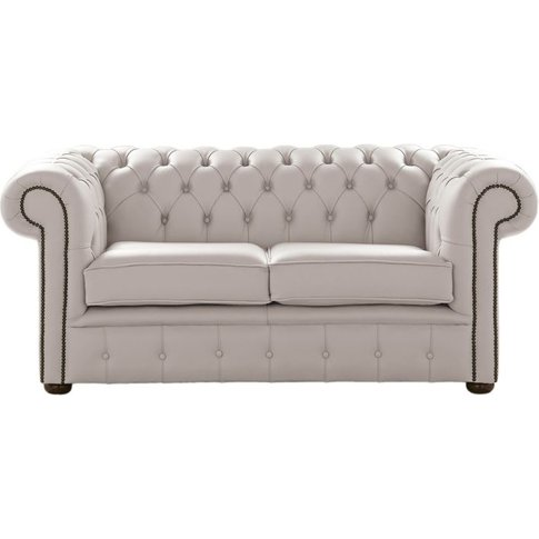 Chesterfield 2 Seater Shelly Grove Leather Sofa Settee