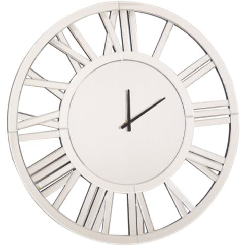 Caprice Large Mirrored Round Wall Clock