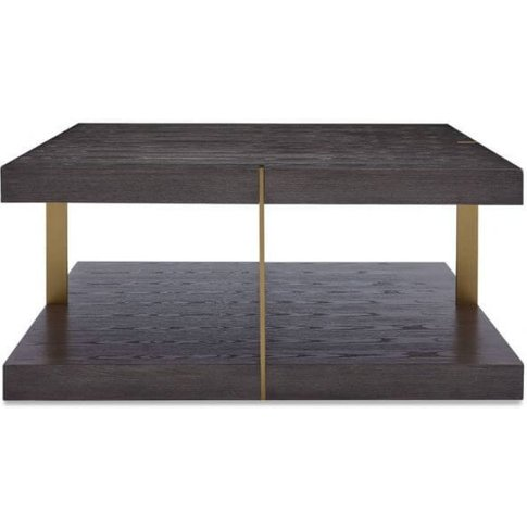 Dominica Sqaure Wooden Coffee Table In Grey