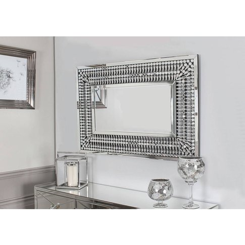 Elias Crystal Rectangular Wall Mirror