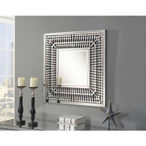 Elias Crystal Square Wall Mirror