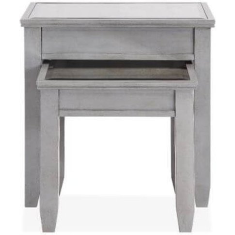 Gioia Wooden Nest Of Tables Grey