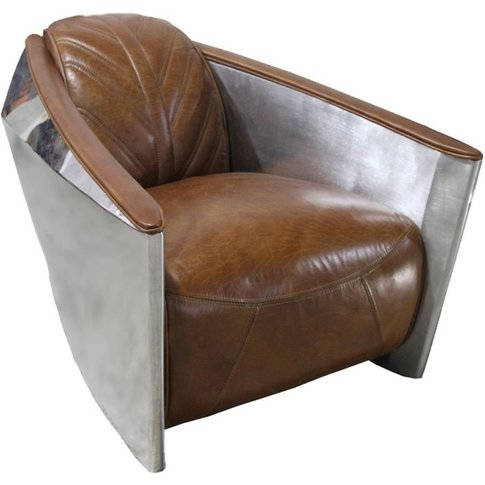 Aviator Titan Vintage Distressed Leather Armchair