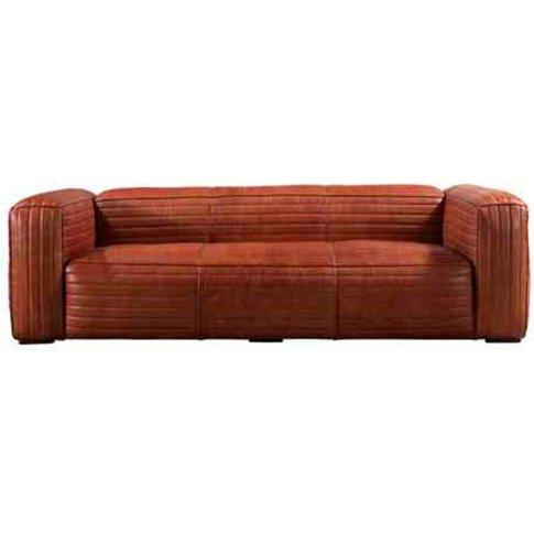 Belgrave Vintage Luxury Retro Distressed Leather 3 Seater Sofa