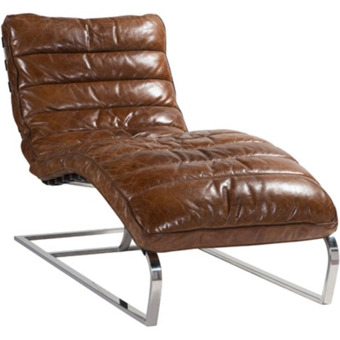 Bilbao Daybed Vintage Distressed Leather Chaise Lounge