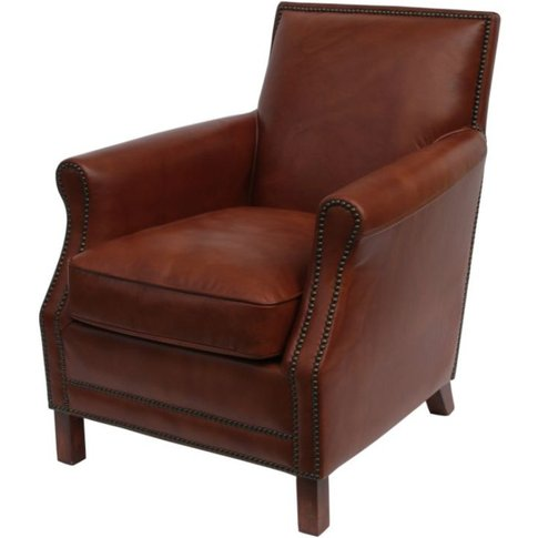 Bowden Vintage Leather Armchair