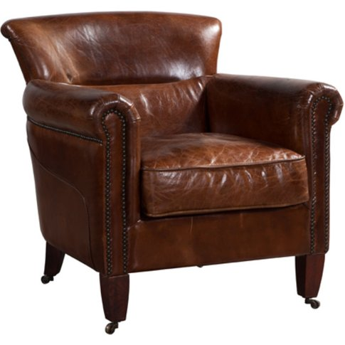 Classic Distressed Leather Armchair