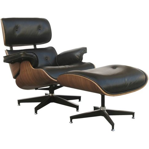 Eames Inspired Lounge Chair With Foostool