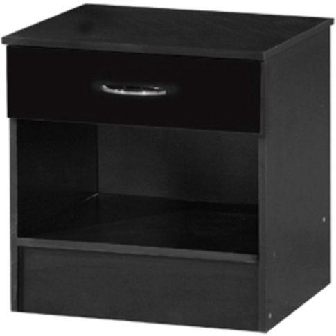 Alpha Black Two Tone Bedside Cabinet