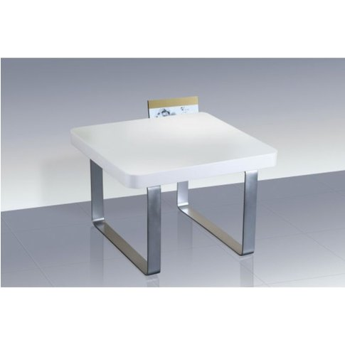 Adolph White High Gloss Lamp Table With Steel Legs