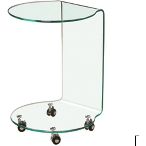 Alessandra Glass Lamp Table