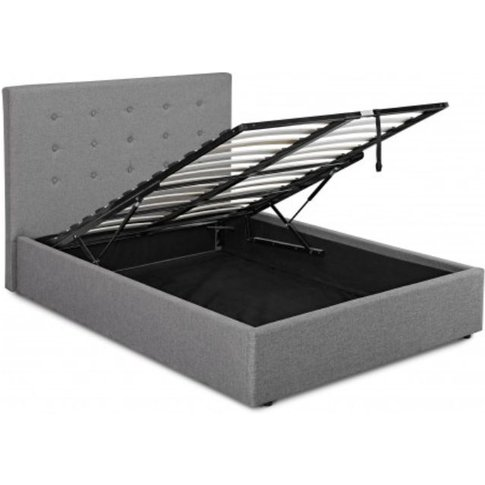 Lucy Plus 4.6 Double Storage Hydraulic Lift Bed Grey...