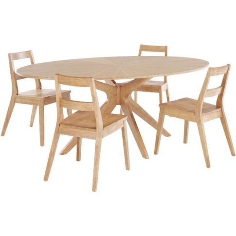 Mia Solid White Oak Wood Dining Table