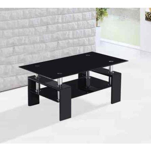 Metro High Gloss Black Coffee Table