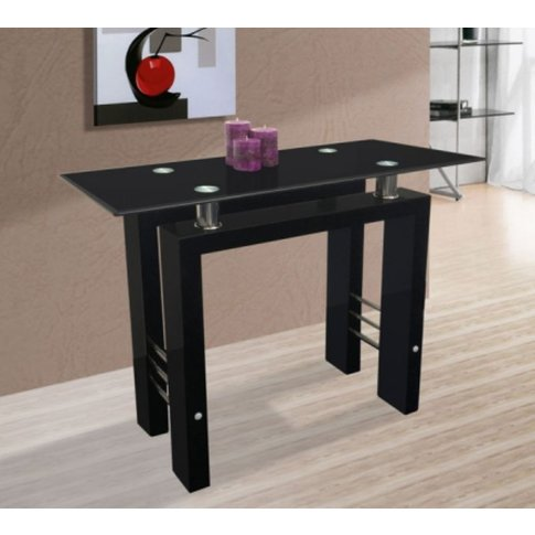 Metro High Gloss Black Console Table