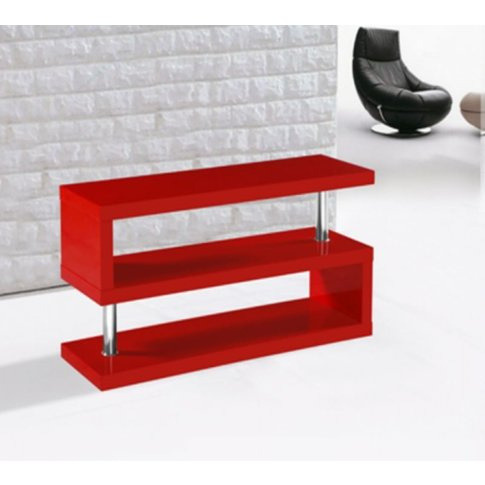 Miami High Gloss Modern Red Tv Stand