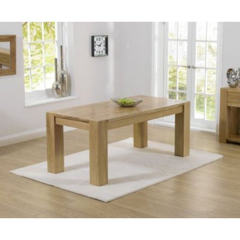 Luciana Solid Oak Dining Table With Clear Laquer Finish