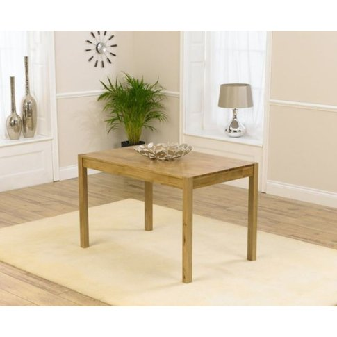 Silvio Solid Oak Dining Table With A Modern Finger J...