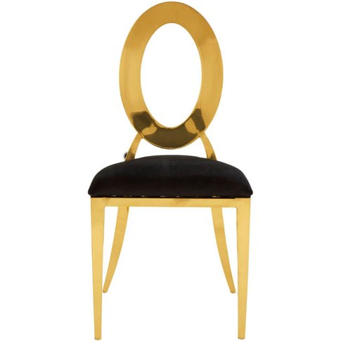 Staffan Black Velvet Seat And Gold Steel Frame Dinin...
