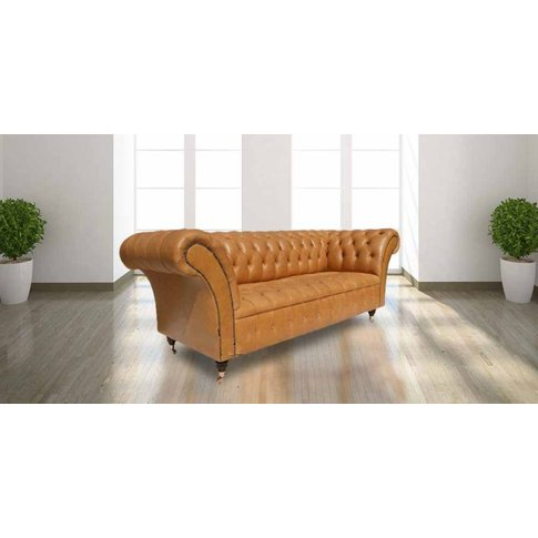 Chesterfield Grosvenor 3 Seater Sofa Settee Old Engl...