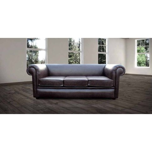 Chesterfield Hampton 3 Seater Settee Old English Smo...