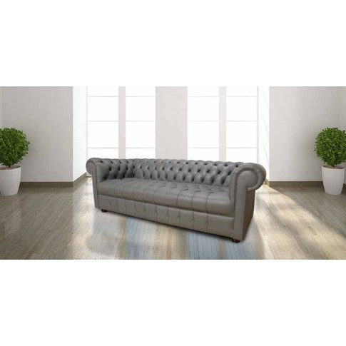 Chesterfield Thomas 3 Seater Sofa Settee Buttoned Se...