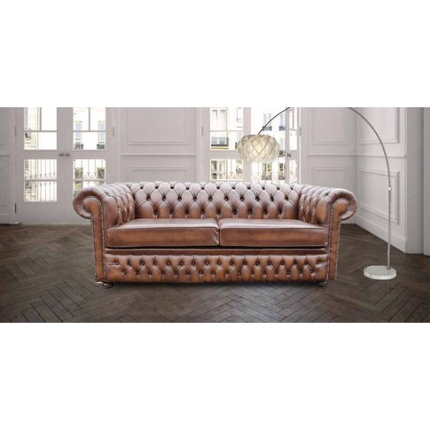 Chesterfield Winchester 3 Seater Sofa Settee Antique...