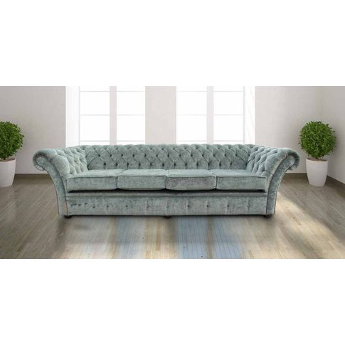 Chesterfield Drummond 4 Seater Sofa Settee Velluto L...