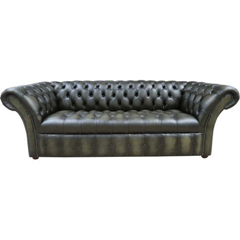 Chesterfield Balmoral 3 Seater Sofa Buttoned Seat Le...
