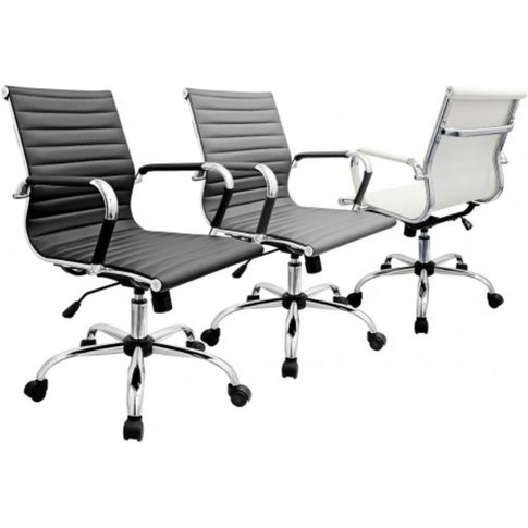 Emilia Pu Seat Style Office Chair With Casters And C...